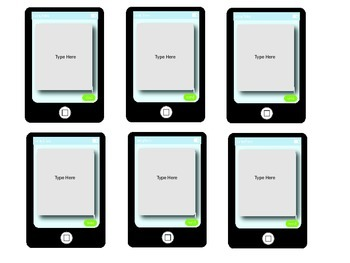 iLearn Technology Themed Editable Labels and Signs