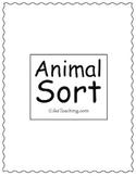 iLikeTeaching Animal Sort