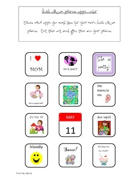 iLove Mom Phone {a Mother's Day craftivity}