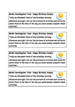 iMaths Happy Birthday Humpty Dumpty
