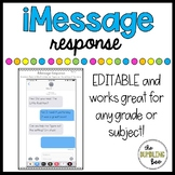 iMessage // Text Message Graphic Organizer *EDITABLE*