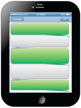 iMessage iPad Template Editable