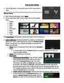 "iMovie App - ""How-to"" Sheet"