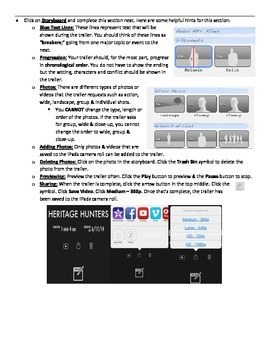 "iMovie App - ""How-to"" Sheet 2"