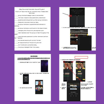 iMovie Instructions, Peer Evaluations, Rubrics, Checklists