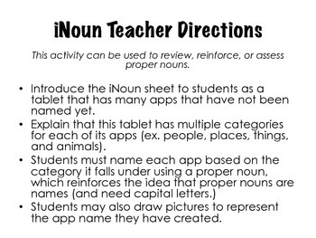 iNoun: A Proper Noun Activity and Assessment