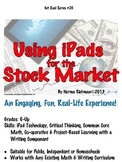 iPAD TECHNOLOGY & STOCK MARKET! COMMON CORE, PROJECT-BASED MATH LESSON PLAN.