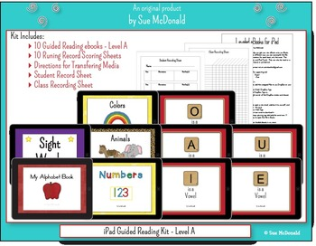 iPad - 10 eBooks for Guided Reading - Level A, With Running Record Scoring Pages