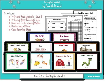 iPad - 10 eBooks for Guided Reading - Level B, With Running Record Scoring Pages