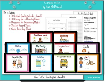 iPad - 10 eBooks for Guided Reading - Level C, With Running Record Scoring Pages