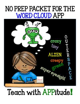 iPad Activities for Word Cloud App NO PREP