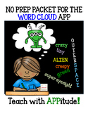iPad Activities for Word Cloud App NO PREP
