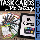 iPad Activity Task Cards for Pic Collage BUNDLE: Reading, Math, & Writing
