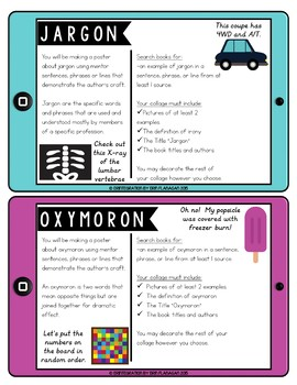 iPad Pic Collage Task Cards: Writing Author's Craft
