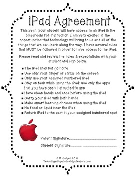 iPad Agreement