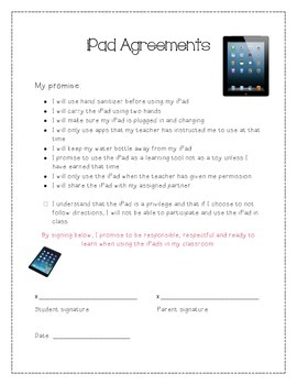 iPad Agreements: For Students and Parents