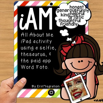 iPad All About Me Adjective Activity