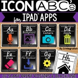 iPad Alphabet Cards of Frequently Used iPad Icons - Grey w