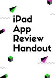 iPad App Review Handout/Worksheet