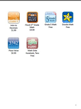 iPad Apps for Common Math Topics - Fifth Grade