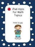 iPad Apps for Common Math Topics - Fifth Grade