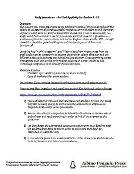 iPad Apptivity - Early Jamestown