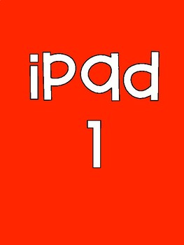 iPad Background Identification Numbers