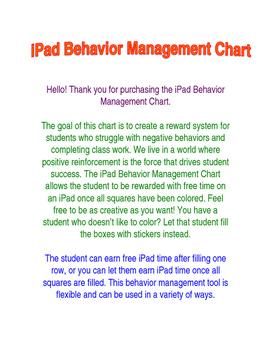 iPad Behavior Management Chart