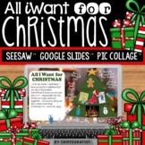 Christmas Wish List Activities on Google Slides & Seesaw