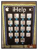 "iPad Class Job Bulletin Board Icons ""iHelp"" 1"