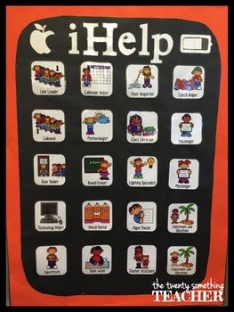 "iPad Class Job Bulletin Board Icons ""iHelp"" 2"