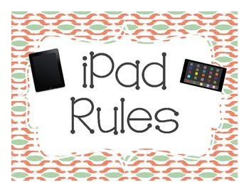 iPad Rules Freebie