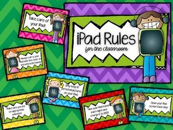 iPad Classroom Use Signs