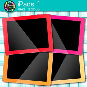 iPad Clip Art {Rainbow Tablet Devices for Technology Lessons and Computer Lab} 1