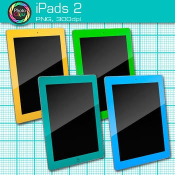 iPad Clip Art {Rainbow Tablet Devices for Technology Lessons and Computer Lab} 2