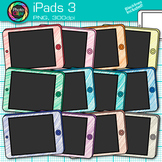 iPad Clip Art {Rainbow Tablet Devices for Technology Lessons and Computer Lab} 3