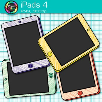 iPad Clip Art {Rainbow Tablet Devices for Technology Lessons and Computer Lab} 4