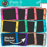 iPad Clip Art {Rainbow Tablet Devices for Technology Lessons and Computer Lab} 6