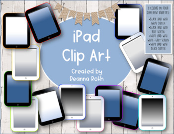 iPad Clip Art (Personal or Commercial Use)