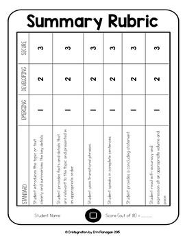 iPad Reading Activity for Summarizing