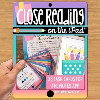 iPad Close Reading Task Cards: Digitally annotate, highlig