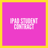 iPad Contract for Older Students (English/Spanish)