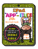 iPad ELA Task Cards for the App Doodle Buddy (NO PREP) 150