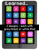 iPad Exit Ticket Poster and Bulletin Board Set