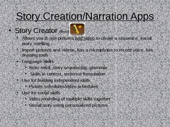 iPad Expanding Language Apps PowerPoint-Speech Therapy, Special Education