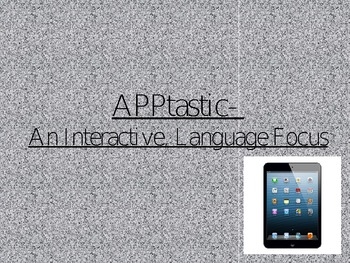 iPad Expanding Language Apps PowerPoint-Speech Therapy, Sp
