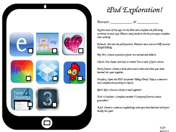 iPad Exploration Menu