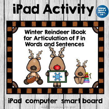 Winter Reindeer Activity For Articulation of F in Words and Sentences, No Print