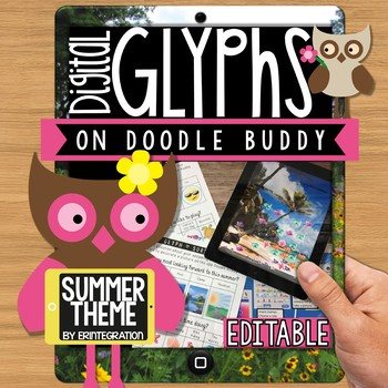 iPad Glyph Activity for the End of the Year:  Summer Theme