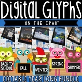 iPad Seasonal Glyph BUNDLE - 5 iPad activities